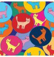 Cute seamless pattern with cats vector