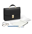 Black brief case vector