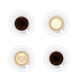 Set cup of coffee vector