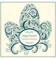 Happy easter card or frame vector