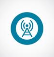 Antenna icon bold blue circle border vector