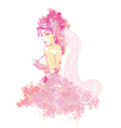 Beautiful abstract bride vector