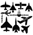 Airplane set vector