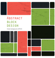 Abstract block design background vector