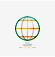 World globe logo stamp vector