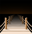 Night pier vector