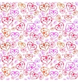 Pattern with colorful hearts vector