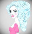 Portrait of beautiful girl vector