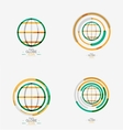 World globe logo stamp vector