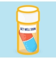 Get well soon healthy card vector