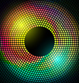 Colorful disco lights frame vector
