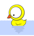 Cartoon baby duck vector