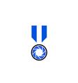Photography logo concept in blue vector