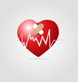 Heart with plaster and graph vector