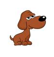 Cute brown dog cartoon - isolated vector