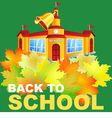 Maple leaf and the school building vector