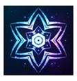 Blue shining cosmic abstract snowflake vector