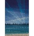Mosaic abstract sea or ocean shore vector