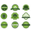 Green organic and bio labels vector