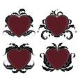 Vintage valentine hearts vector