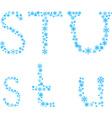 Stu letters vector