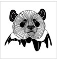 Bear panda head animal line symbol for mascot embl vector