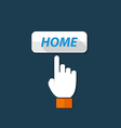 Hand hold touch and home button vector