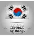 Geometric polygonal republic of korea flag vector