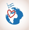 I love israel happy independence day vector