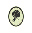 Lady cameo profile vector