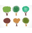 Collection of tree icons vector