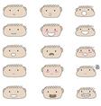 Cute boy faces emoji vector