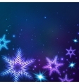 Blue cosmic snowflakes christmas abstract vector