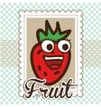 Fruit cute design vector