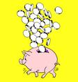 Piggy bank and money vector