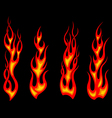 Tribal tattoo flames set for fantasy design vector
