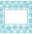Background frame and flowers vector
