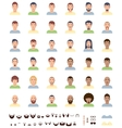 Men faces flat icon set vector