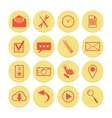 Set of yellow icons for web and mobile vector