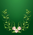 Green floral border vector