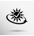 Open icon clock time delivery timetable day vector