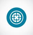 Optical sight icon bold blue circle border vector