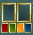 Golden stamp vector