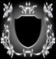 Coat of arms silver monogram vector