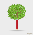 Wooden pencil with leaf vector