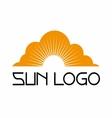 Sun logo template set icon vector