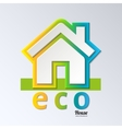 Eco house in rainbow color  eps 10 vector