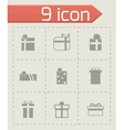 Gift icon set vector