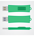 Top view of portable flash gadget in green design vector