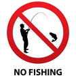 No fishing sign vector